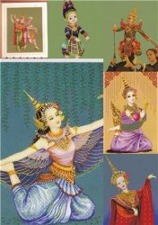 Manorah-Thai Dancer,Puppet Thailand,Song dance,Hanuman took her five body,Puppet Theater,Thai dance