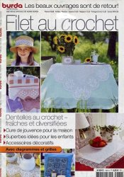 Burda special E664 1982  Filet au crochet