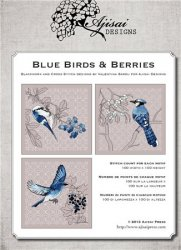 Ricamo Punto Croce e Blackwork Blue Birds & Berries, Red Birds & Berries
