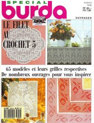 Burda special E953 1988  Filet au crochet 5