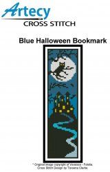 Artecy Cross Stitch - Blue Halloween Bookmark