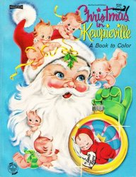 Coloring Book. Christmas in Kewpieville