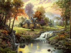 Thomas Kinkade «Mountain Retreat»