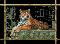 Dimensions 35158 - Bamboo Tiger