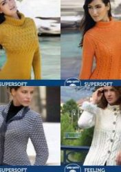 Lapelled Jacket, Openwork Pullover, Cabled Pullover, Jacket