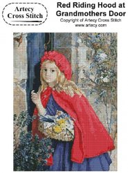 Artecy Cross Stitch - Red Riding Hood at Grandmothers Door