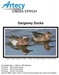 Artecy Cross Stitch - Garganey Ducks