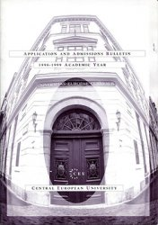 Central European University. Application and Admissions Bulletin. 1998-1999 ...