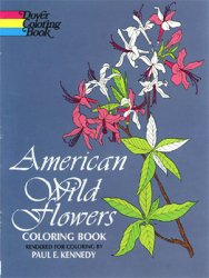 American Wild Flowers: Coloring Book