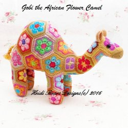 Heidi Bears - Gobi the African Flower Camel