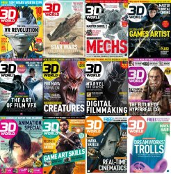 3D World - Full Year Issues Collection (2016)