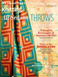 Creative Knitting Presents, October 2013: All Season Throws