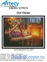 Artecy Cross Stitch - Owl Visitor