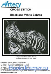 Black and White Zebras (Artecy Cross Stitch)