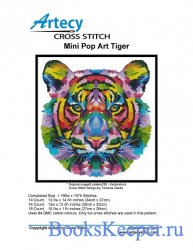 Artecy Cross Stitch - Mini Pop Art Tiger