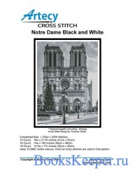 Artecy Cross Stitch - Notre Dame - Black and White