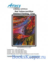 Artecy Cross Stitch - Red Yellow and Blue Abstract